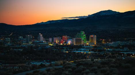 Vista aérea de Reno, Nevada