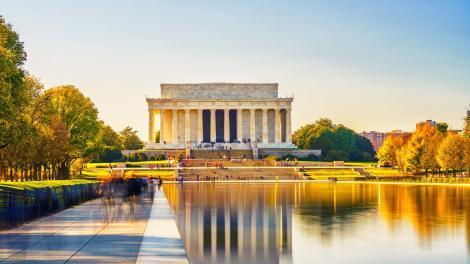 El Lincoln Memorial en el National Mall, Washington, D.C.