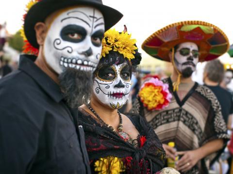 Sugar skulls at All Souls Procession Weekend