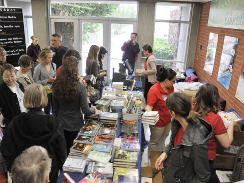 Eager readers at the Tucson Festival of Books