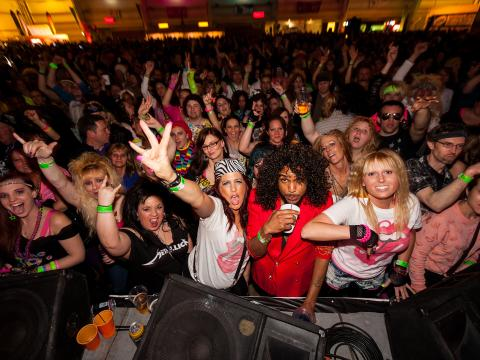 Rockin' out at 80s Fest