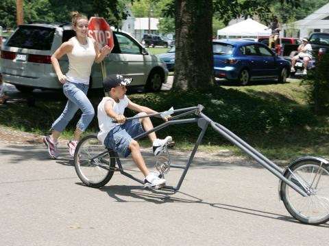 Una creación especial en el Louisiana Bicycle Festival en Abita Springs