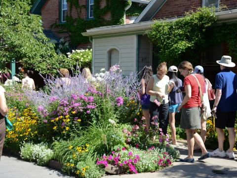 En la Garden Walk en el mes de julio