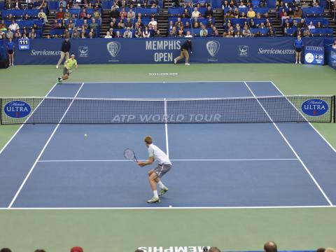 An exciting match at the Memphis Open