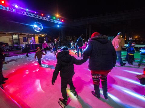 Stroll on State's disco ball jazzes up the ice skating