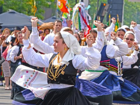 El animado desfile de Portugal Day