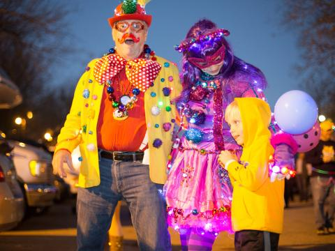 All decked out for Mardi Gras, Baton Rouge-style