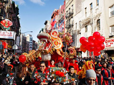 Dragon leads the way at the Lunar New Year Parade