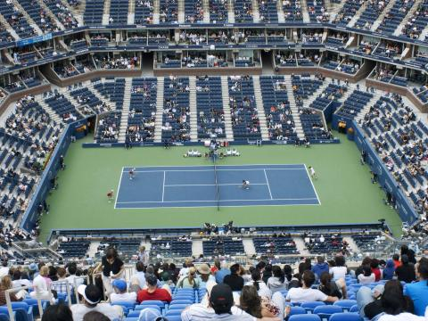 View of the court at US Open Tennis Championships