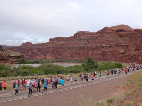 Runners in the Thelma & Louise Half Marathon