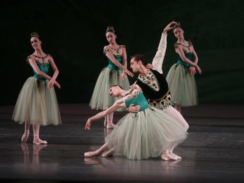The New York City Ballet strikes a pose