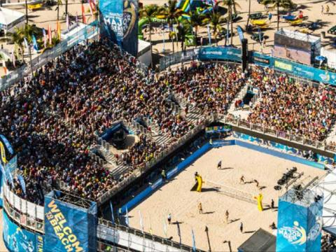 SWATCH FIVB Beach Volleyball tournament in Fort Lauderdale