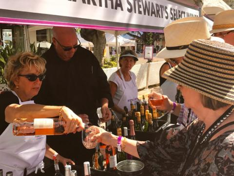 Wine tasting during the Paradise Coast Food & Wine Experience in Naples, Florida