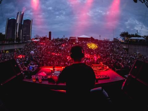 Maceo Plex and Ben Klock performing at Movement Electronic Music Festival at Hart Plaza