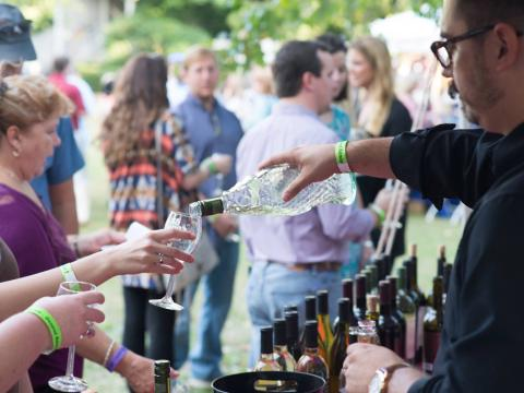 Wine tasting at the Big Spring Crush Wine and Food Festival