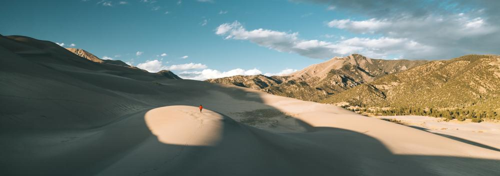 Great Sand Dunes National Park and Preserve en Colorado