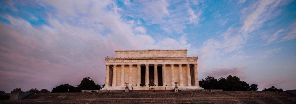 El Lincoln Memorial en la National Mall en Washington, D. C.